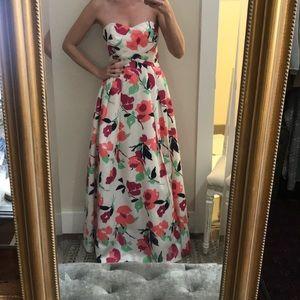 Shoshanna Floral Print Gown